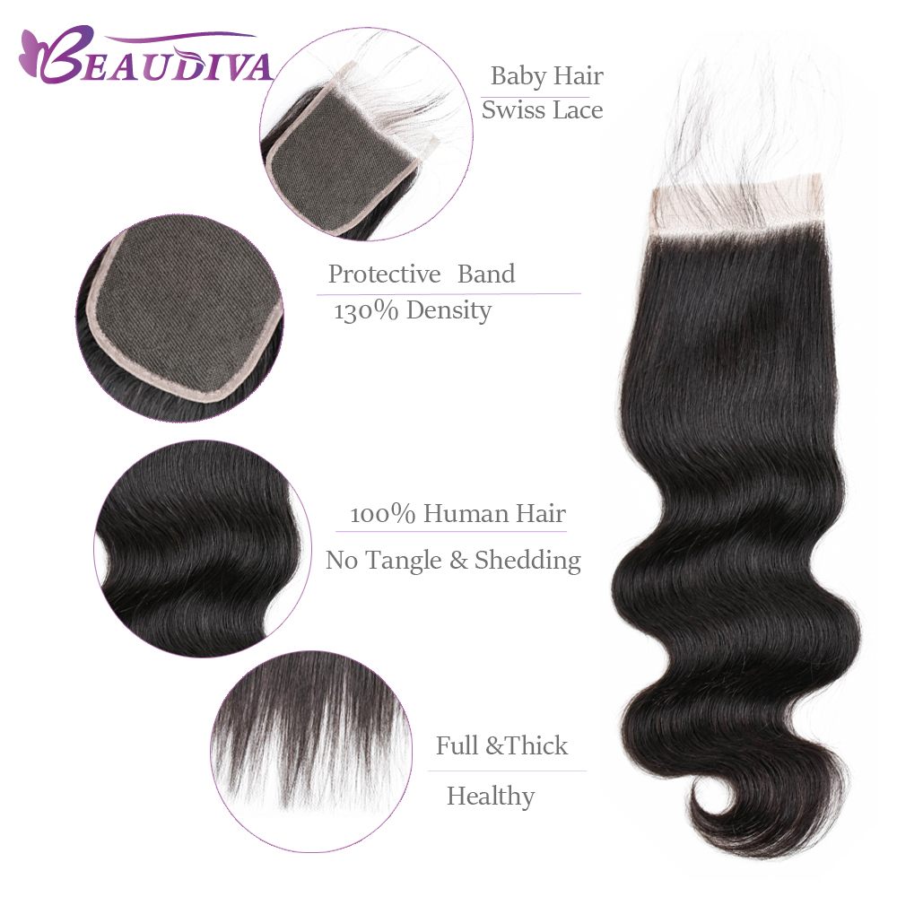 Body Wave Bundles With Closure Brazilian Body Wave Human Hair Weave 2/3 Bundles With Closure Beaudiva Hair Bundles With Closure