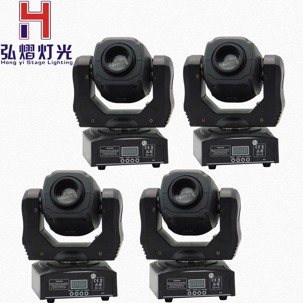 Здесь можно купить  (4 pieces/lot) moving 60w LED Moving Head gobo Light led dmx 512 control mini dj diso moving heads 60w  Свет и освещение