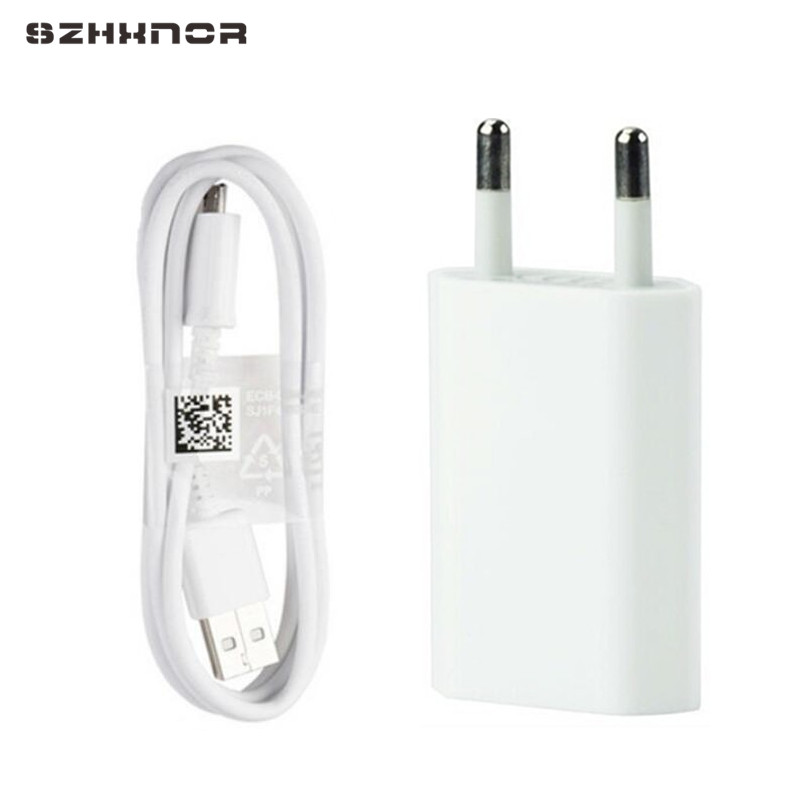 SZHXNOR USB Power Charger EU plug Adapter Charging Charger with 8pin / micor USB / type C Charger Cable For ios for android