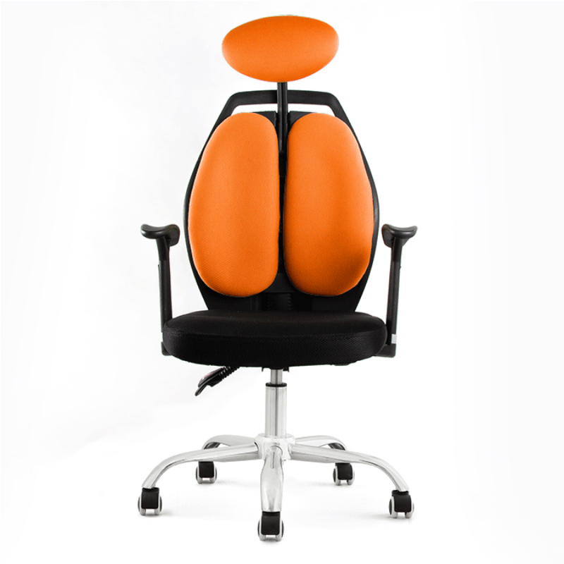 Computer Chair Multifunction Mesh Cloth Double Back Swivel Chair Ergonomics Lifted And Rotation Household Casual Chair
