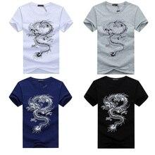 Футболки с классическим принтом, Мужская забавная футболка с изображением китайского дракона, футболка кунг-фу Тай Чи