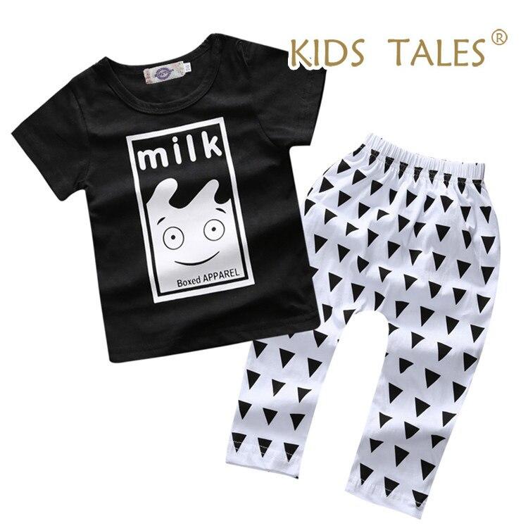 Новинка 2017 года Летний Стиль Хлопок Одежда для маленьких мальчиков и девочек короткий  ...