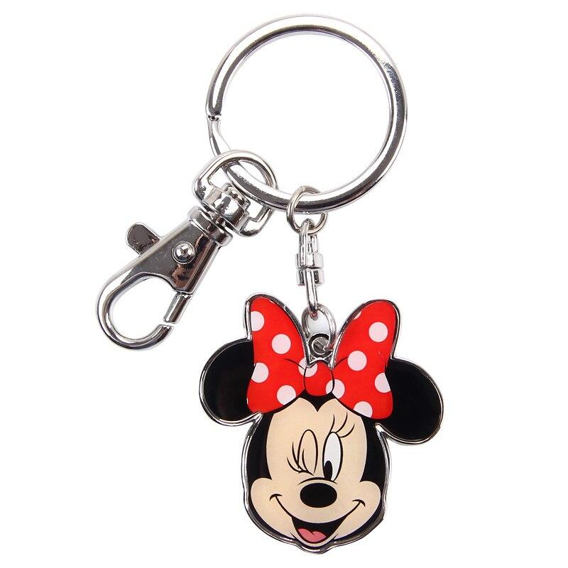 Disney Keychain Keyring Wallets-Parts Pendant-Accessories Key-Holder Cartoon Gift