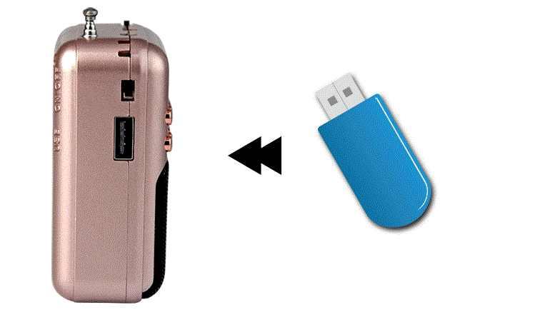Pocket Radio FM Radio Mini Draagbare Oplaadbare Radio Ontvanger Speaker Ondersteuning USB TF Card Muziek MP3 Speler