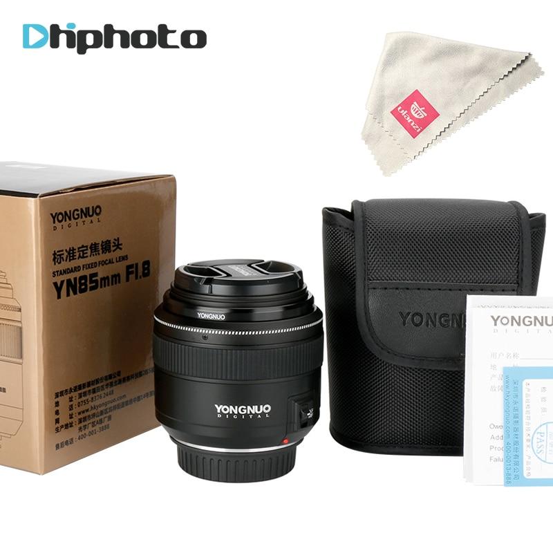 Yongnuo YN85mm F1.8 AF/MF estándar medio teleobjetivo lente 85mm focal fija Objetivos para cámaras Canon EF montaje cámaras EOS