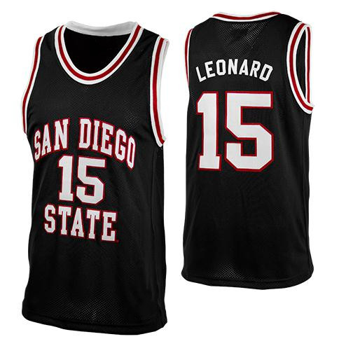 save off 276bd a630c Men's #15 Kawhi Leonard College Retro Basketball Jersey Stitched Custom Any  Number Name Jerseys