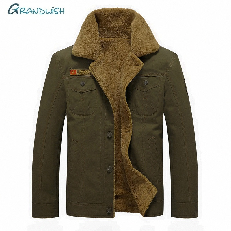 Grandwish Winter Jacket Men New Outwear Windbreaker Brand Warm Thick Military Casual Men's Jackets   Parkas   Plus Size M-6XL, DA893