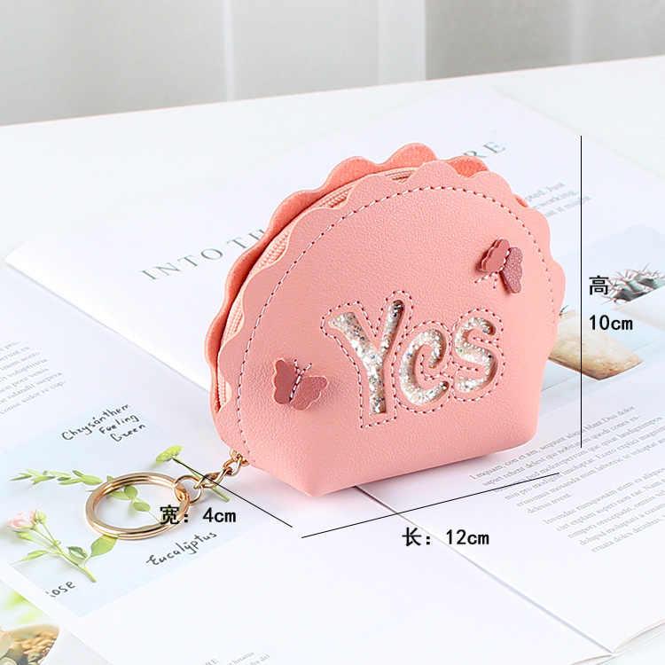 Carteiras curtas Carta Sim Meninas Zipper Coin Purse Bolso Mulheres Chaves Dinheiro Sacos Senhora Bolsas Pingente Mulher Carteira Mini Bag caso