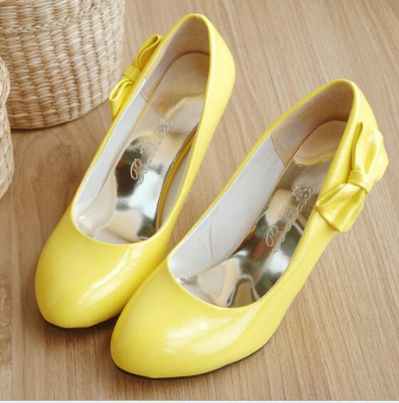 Bombas Negro Del 2016 Arco Caramelo blanco De Zapatos Color Plataforma Mujeres Impermeable Nuevo Red rosy Las amarillo FF7E10