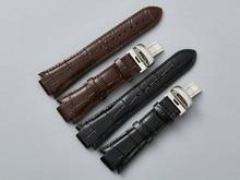"""T60 14 מ""""מ x 24 מ""""מ L975.110 אמיתי רצועת השעון עור שעון רצועת גברים שעון להקות עבור T60"""