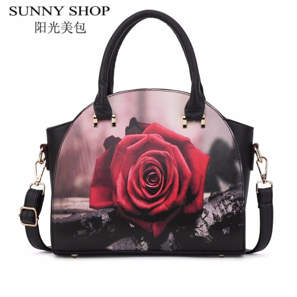 a62d48fb996c Buy Fashion Women Shoulder Bags Printed Flowers Ladies Messenger Bag ...