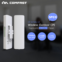 Long Range 3km Wifi siganl amplifier 2.4G 150mbps High Gain Antenna COMFAST cf e214nv2 Outdoor Router Wifi CPE For Ip Camera