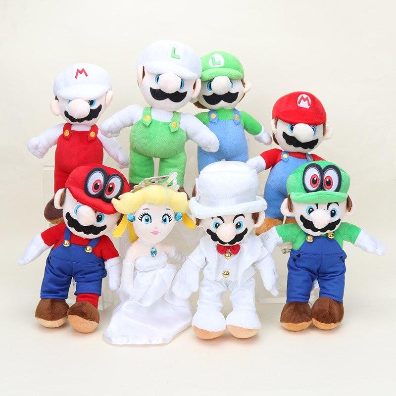 Us 5 88 20 Off 25cm Super Mario Odyssey Doll Mario Bros In Wedding Dress Groom Costume Luigi Mario Princess Peach Plush Toy Doll Gift In Movies Tv