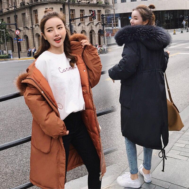 Parkas Fourrure Dame D'hiver Femmes Manteau Vêtements Femme Épaisse Usure Bas Vestes De Nouveau Veste Vers Neige Faux 2018 White Le caramel grey qFEZwp45