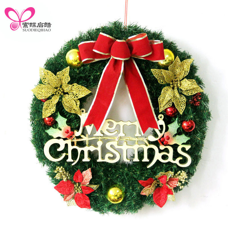 Christmas Wreath Ornament Christmas Tree Decorations Pendant Window Decorations Garland Home Party Kerst Navidad Props Supplies kerst navidad 2017 halloween haunted house supplies bar ktv decorative props tricky toys luminous spider web 142g