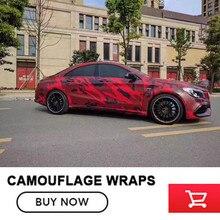 Черный, красный камуфляж винил Обёрточная бумага камуфляж Плёнки Обёрточная бумага Ping автомобиля Чехлы для автомобиля Обёрточная бумага S Бесплатная доставка