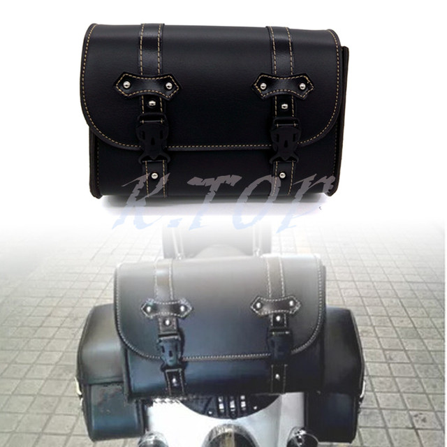 5fd56f94f6c1 Universal Black Durable Motorcycle Motorbike PU Leather Tool Roll Kit  Saddle Bag Pannier Bag on Aliexpress.com | Alibaba Group