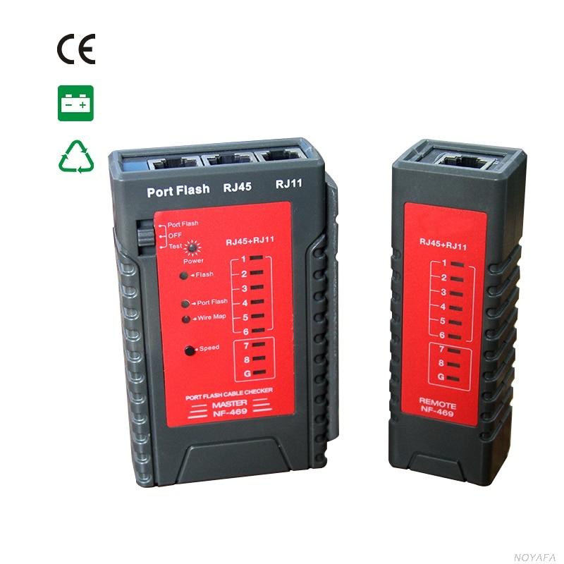 Transport gratuit, Noyafa nou sosire NF-469 Portflash tester de cablu de rețea poate localiza cabluri pe comutator de lumina intermitentă
