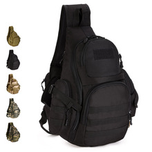 Outdoor Single Shoulder Large Cycling Backpack 14Inch Laptop Tactical Chest Pack Molle System Military Shoulder Bag