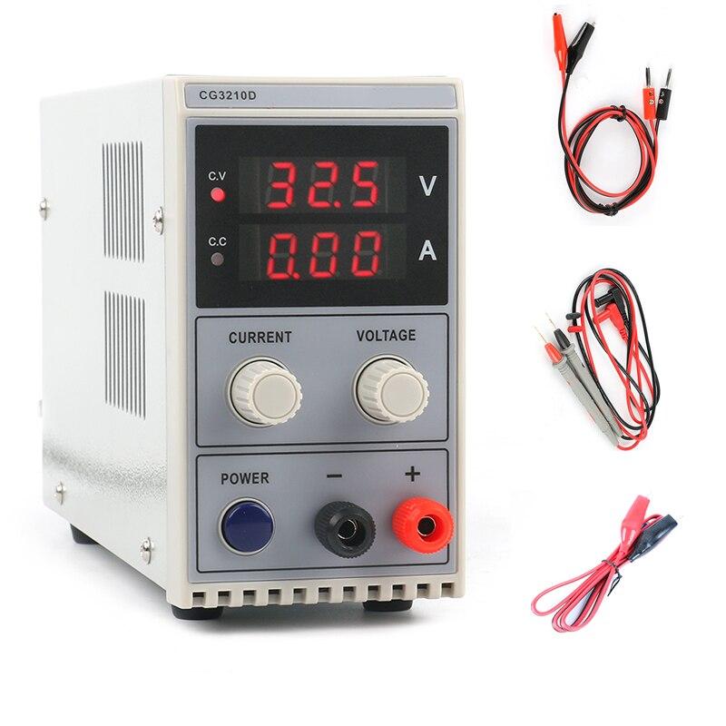 2018 мини-регулируемый цифровой светодио дный DC импульсный источник питания лаборатории мобильный телефон ремонт 30 В 32 В 5A 10A 60 В 120 В ЕС/AU/США ш...