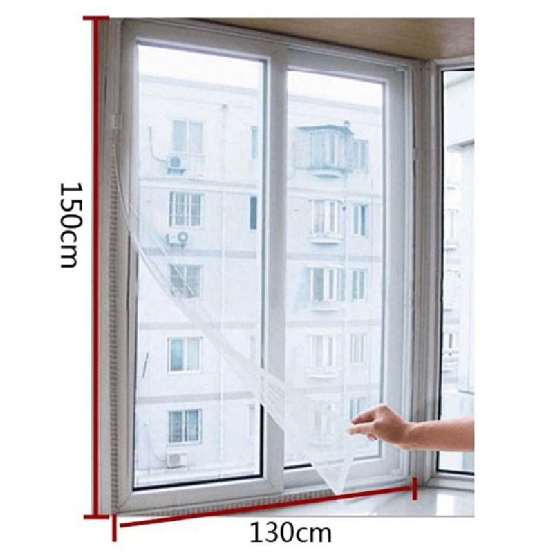 Factory Price! New Fashion Door Window Flyscreen Wire Net Fly Bug Mosquito Mesh Screen Curtain White Замок