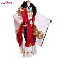 Fox Demon Cosplay Game Kitsune Onmyoji Gentleman Ver White Red Costume Without Tail