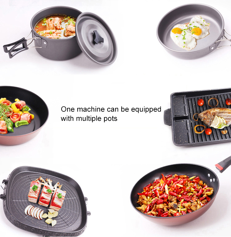 Camping Picnic Gas Heating Stove For Non-Stick Roasting Plate Pan