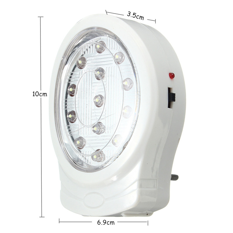Smuxi 13 LED Rechargeable Home Wall Emergency Light Power Failure Lamp Bulb EU Plug AC110-240V For Bedroom Night Light