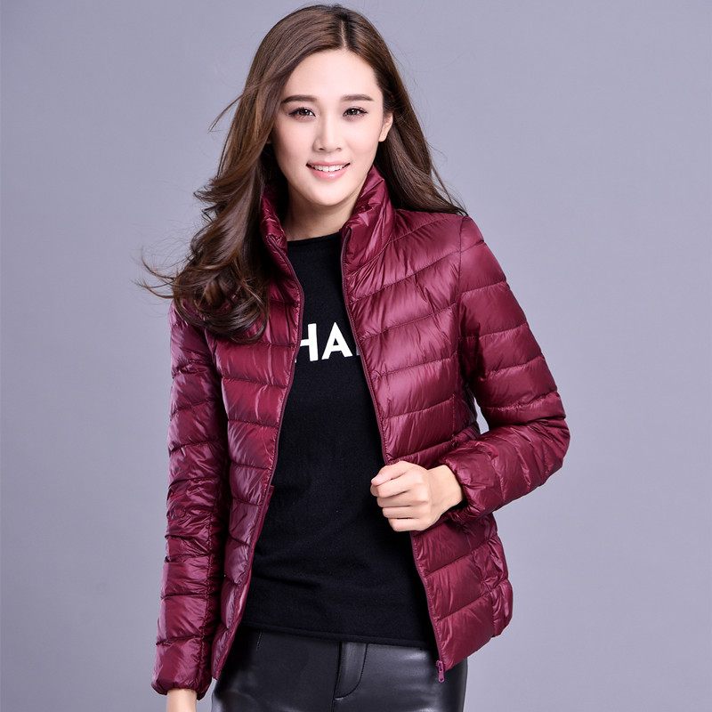 2017 Women Winter Many Colors Jackets&Coat Plus Size Slim Down Top Coat Short Stand Collar Thin Korea Outwear Clothing MY0053