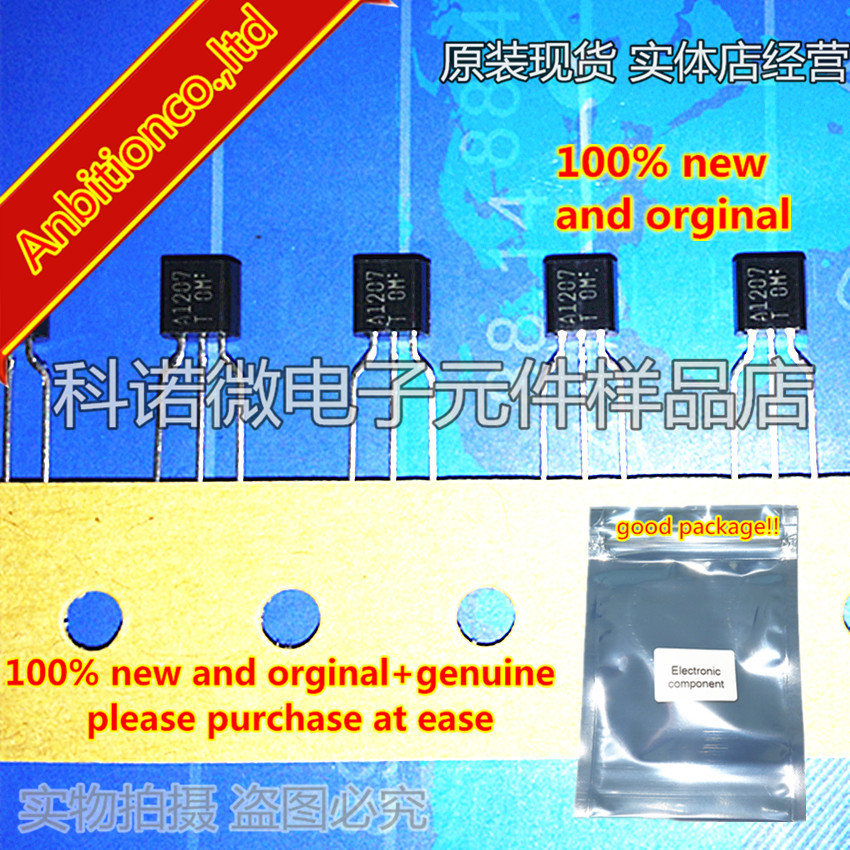 10pcs 100% New And Orginal 2SA1207 A1207 TO-92 High-Voltage Switching, AF 60W Predriver Applications In Stock
