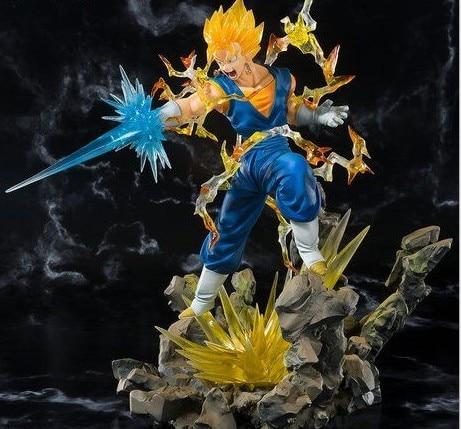 NEW hot 20-23cm dragon ball Super Saiyan Vegeta Son Goku Nirvana action figure toys collection doll Christmas gift with box
