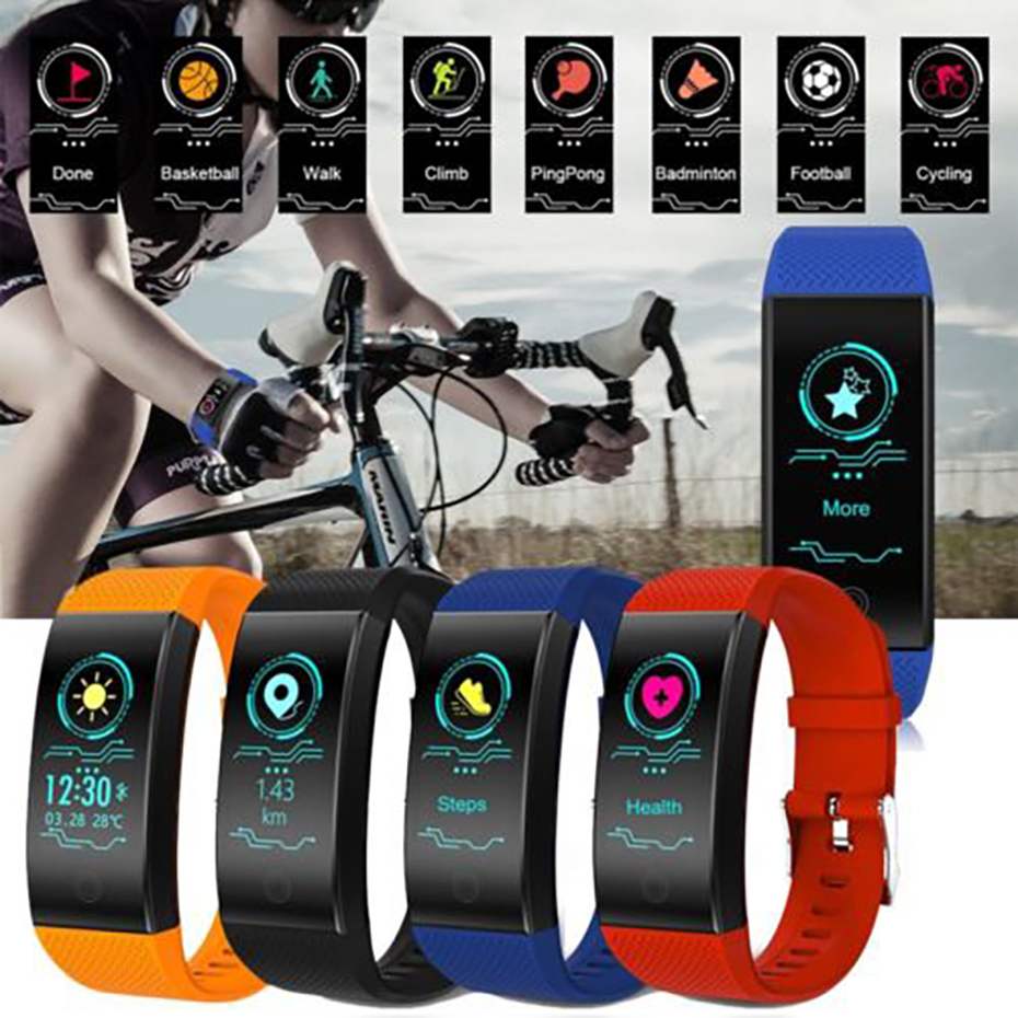 Fitness Tracker Bluetooth 4.1 Smart Watch Men for Android iOS Heart Rate Monitor Fitness Tracker Pedometer Watch