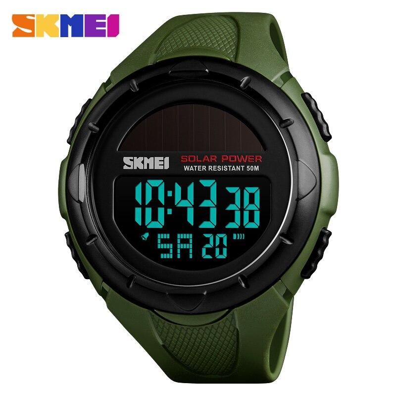 1dfc705ae72 Fashion Solar Sports Watches Men Luxury Brand SKMEI LED Military Digital  Watch Waterproof Clock Male Casual