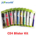 5 pcs distribuidor E cigarro china cigarro bateria ego-t e-cigarro elétrico ego kit blister ce4 clearomizer ce4 vapor (MM)