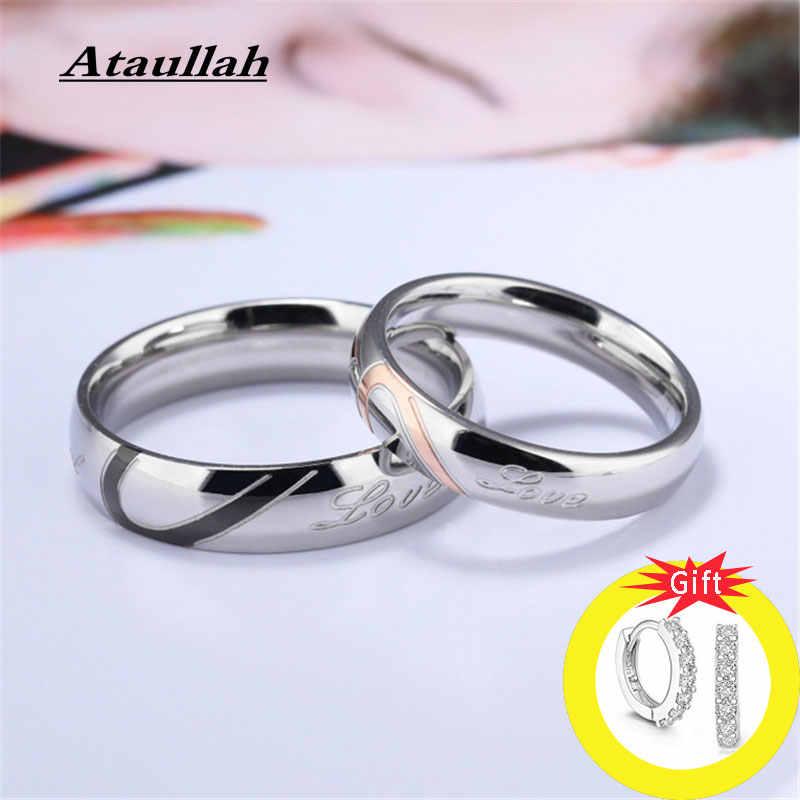 Ataullah пара обручальных колец для женщин и мужчин ювелирные изделия Юбилей обручальные ювелирные изделия подарок для влюбленных Bijoux кольцо RW008NS