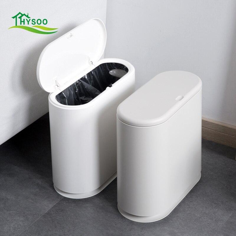 Ovale couvert la poubelle home salon étroite déchets papier panier cuisine créative grand écart poubelle