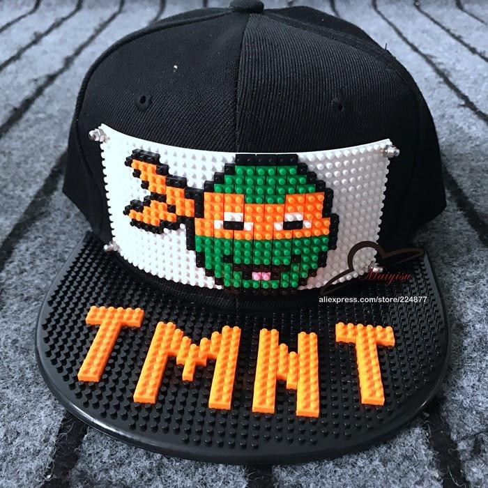 Apparel Accessories Boy's Hats New Custom Blocks Design Diy Bricks Tmnt Hip Hop Cap Outdoor Cartoon Men Women Fashion Hat Cool Baseball Caps