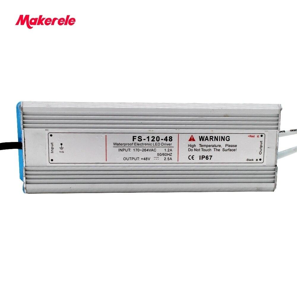 Professionnel étanche LED Sortie Unique de Commutation d'alimentation 120 w 12 V 15 V 24 V 36 V 48 V CE Petit Volume pour LED Bande lumière