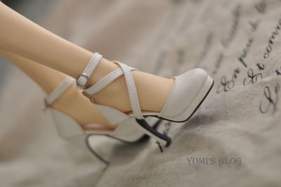 Pure White Cross Strap High Heel Shoes For BJD Girl SD16 SD13/10 Flat Foot DD Doll Shoes SW13 pure white lace dress for bjd doll 1 4 1 3 sd16 dd dy luts dod as doll clothes cwb20 1