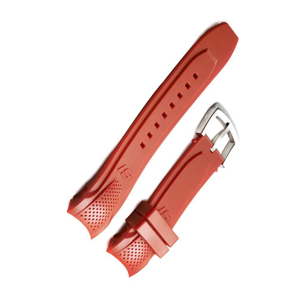 サンゴ礁虎/rtブラックオレンジグリーンラバー時計バンドブルーラバー時計ストラップ付きバックル男性スポーツ時計バンドRGA3063