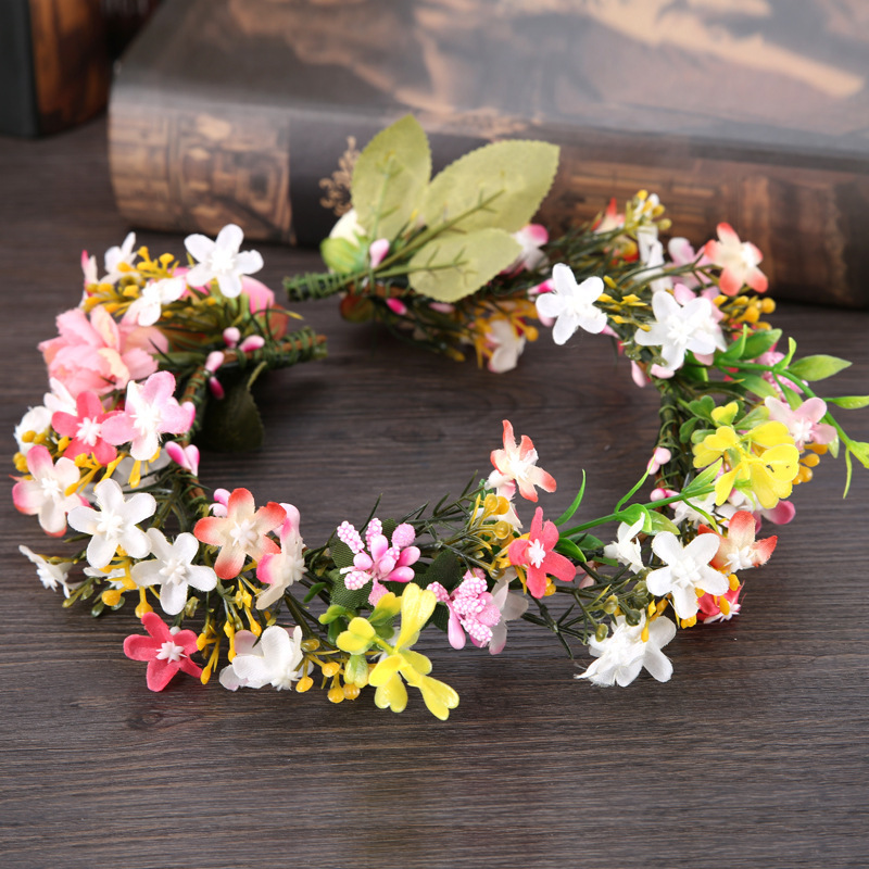 New Flowers Bridal Headwear Bridal  Accessories Women Flower Hats White And Pink Flowers For Wedding Party Bride Garland 2019