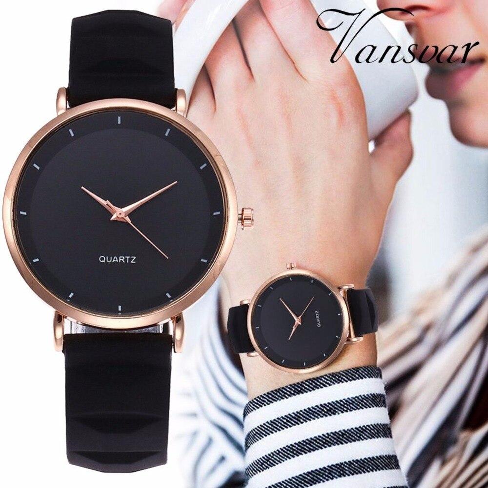 Vansvar de Silicone De Gelée De Mode Femmes Montres Marque De Luxe décontracté Dames Quartz Horloge Montres Horloge Montre Femme