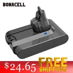 Bonacell 3000mAh 21,6 V batería de ion de litio para Dyson V6 DC58 DC59 DC61 DC62 DC74 SV07 SV03 SV09 965874-02 aspiradora batería L30