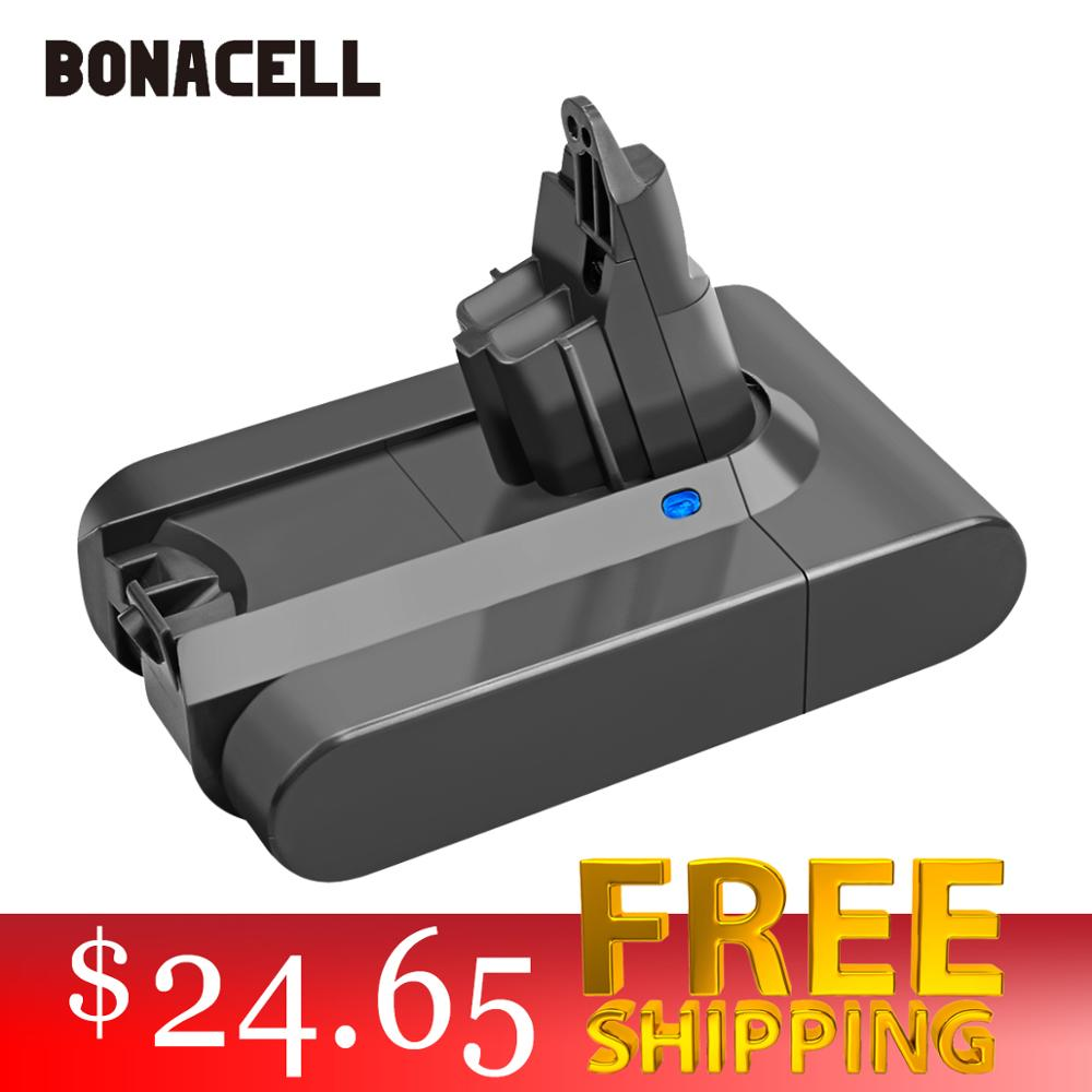 Bonacell 3000mAh 21.6V Li-ion Battery For Dyson V6 DC58 DC59 DC61 DC62 DC74 SV07 SV03 SV09 965874-02 Vacuum Cleaner Battery L30