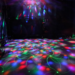 Пульт дистанционного управления ALIEN RGB 4 в 1, светодиодный лазерный проектор Gobo, магический шар, DMX, сценический эффект, диско, вечерние, праздничные, свадебные