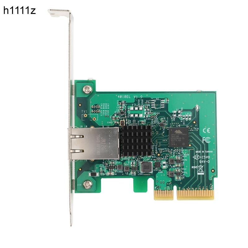 Carte Ethernet PCI Express 10 Gigabit 10000 Mbps Gigabit 10G/5G/2.5G/1000 M/100 M convertisseur adaptateur de carte réseau pci-express x4 PCI-E