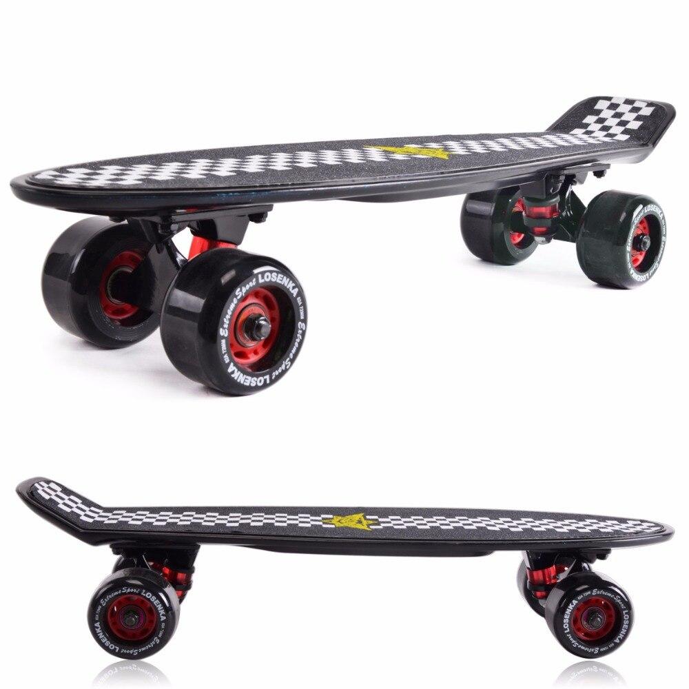 """Prix pour Livraison gratuite 22 """" Peny Skateboard Nickel dérive bloquer Neon Orange PV Mini Cruiser Longboard complète en plastique pnny planche à roulettes"""