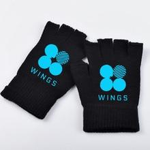 BTS Winter Luminous Half-finger Gloves