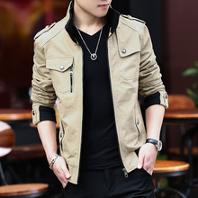 2018 Fashion Bomber Solid Jacket Men Casual Spring Sportswear Fashion Mens Jackets for Male Coats Plus Size Streetwear
