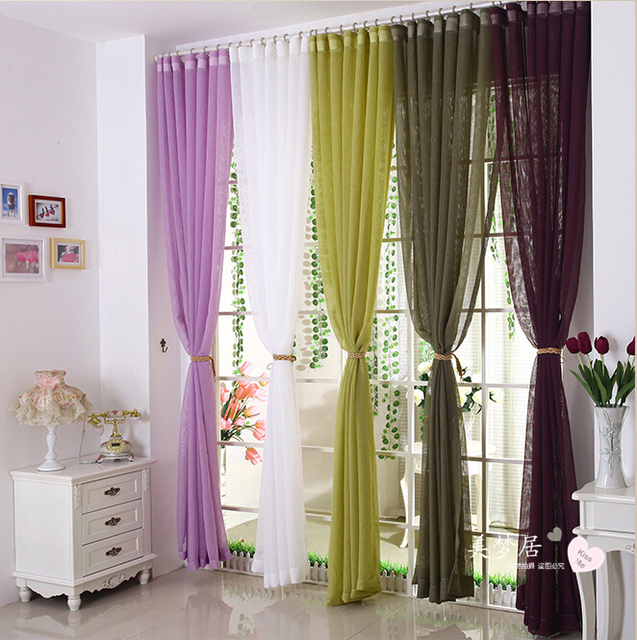 (Customize) Upscale Bedroom Living Room Cute Curtain Gauze Fabric Models  Finished Custom Screens Home Part 68
